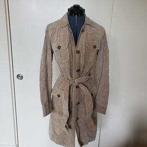 International concepts leather trech coat